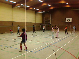 Badminton; Teens in action